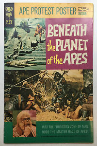 Vintage Beneath the Planet of the Apes  1970 Gold Key Comic w/ Poster Intact FN+