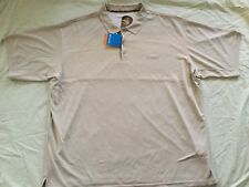 NWT COLUMBIA PERFECT CAST OMIN-SHADE BEIGE WHITE SHORT SLEEVE SHIRT MEN SIZE 4XT