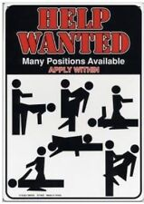 Funny Help Wanted Sign Many Positions Available Funny Metal Sign Adult Novelty