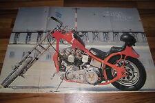 altes POSTER:  EASY RIDER -- Maße  ca 80 x 55 cm ca aus den 1970ern