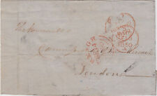 IRELAND :1850 part entire to London-ARMAGH cancel in red