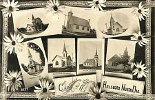 Multiview Postcard Showing Seven Views of Hillsboro Nd Rppc 1909