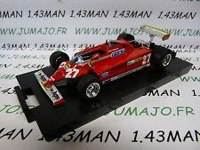 voiture 1/43 BRUMM boite rigide : FERRARI 126CK turbo Montecarlo 1981 Villeneuve