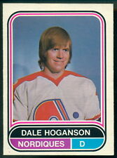 1975-76 OPC O PEE CHEE WHA #2 Dale Hoganson NM Quebec Nordiques Hockey Card