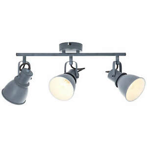 Bogart Decken Spot Strahler Leuchte Industrie Shabby Retro 3-flg E14 beton grau
