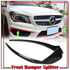Stock in LA!4D Unpainted For Mercedes BENZ CLA W117 Front Bumper Flaps Lip Cover