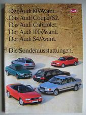 Prospekt Audi SONDERAUSSTATTUNG 80 B4 100 C4 Coupé Cabrio Avant S2 S4 Mod. 1993