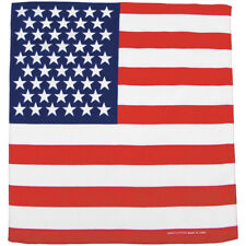 MFH Bandana Algodón Zandanna Hombre Crbata Americana Senderismo U.S. Bandera
