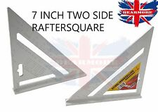 "7""ROOFING/RAFTER/SPEED SQUARE 180mm aluminium alloy ANGLE GUIDE conversion table"
