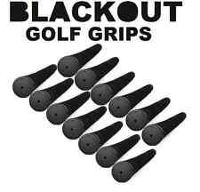 Set of 13 Black Out No Logo Pro Pride Tour Velvet Standard Golf Grips