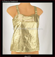 Gold Shiny Spaghetti Strap Top Size 8-10