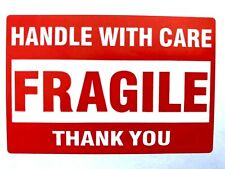 """FRAGILE Handle With Care Stickers 50 Ct 2 X 3"""" Shipping Mailing Packaging Labels"""