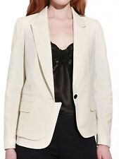 Eryn Brinie Twill Panel Blazer in Off White - Sz S