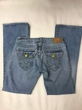 True Religion boot cut  Jeans light  Flap Pockets Size 27 stretch USA MADE