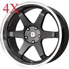 Drag Wheels Dr-53 19x9.5 5/114.3 et35 73mm Gloss Black Rims S2000 G35 350z Lexus
