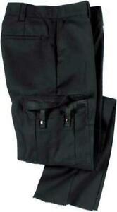 New Dickies Men EMT Stretch Black Tactical Work Pants-Size 34UL x 34-Unhemmed