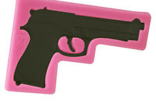 3D Silicone Gun Pistol Chocolate Sugarcraft Mould Cake Decor Topper Baking UK