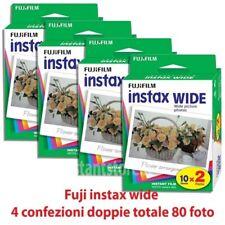 Fuji instax wide 4 confezioni doppie 80 Foto Per fujifilm Instax 210 300 100 ecc