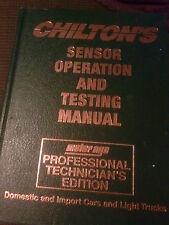 Chilton Sensor Operation Testing Manual 1985-1989#8750  Free Shipping