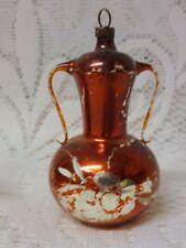 Vintage Old Germany Glass Christmas Tree Ornament Teapot Chocolate Pot Rare