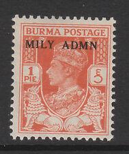 BURMA 1945 1p RED-ORANGE SG 35 MNH.