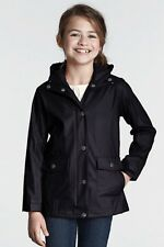 Lands' End ~ Heritage Rain Slicker Jacket Little Girl's S $60 NIP