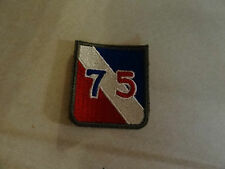 MILITARY PATCH US ARMY COLORED FOR SHOULDER 75TH INFANTRY DIVISION WW2 DATE 1945