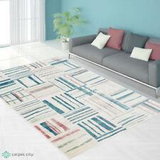 Tapis multicolores rectangulaire avec un motif Carreaux pour la maison