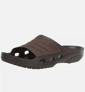 Crocs Bogota Slide Sandals, Men's Size 9 Brown 204972-22Z   NEW brown