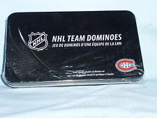 Montreal Canadiens  NHL TEAM DOMINOES Double Six Domino Set  NEW in GIFT TIN BOX