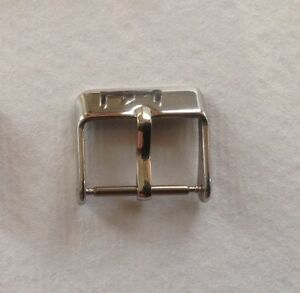 STAINLESS STEEL POLISHED CHROME WATCH STRAP BUCKLE 8MM TO 20MM - UK SELLER