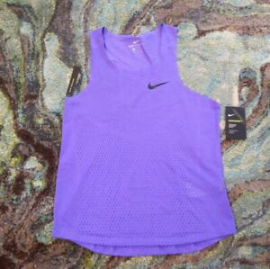 Nike Men's Aeroswift Medium Running Tank Shirt Top Singlet Purple NWT AQ5247-550