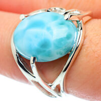 Larimar 925 Sterling Silver Ring Size 8.5 Ana Co Jewelry R38660F