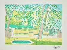 Robert SAVARY - Estampe originale - Lithographie - Le parc