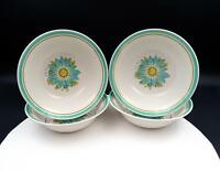 "NORITAKE CRAFTONE JAPAN BLUE SKY #8760 FOUR PIECE 6 3/4"" COUPE CEREAL BOWLS"