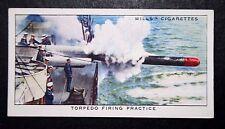 HMAS VAMPIRE  Torpedo Firing Exercise     Original Vintage 1930's Card   VGC