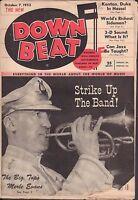 Down Beat October 7 1953 Merle Evans, Kenton VG 081016DBE