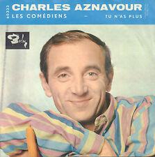 """CHARLES AZNAVOUR – Les Comédiens (1962 VINYL SINGLE 7"""" FRANCE)"""
