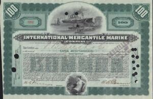 International Mercantile Marine 1917 (Titanic Owners )