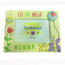 MAMMA Marco resina beis con mariposas y globos IO MI ABUELA 21,5x17 cm