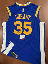 Kevin Durant Signed Autographed Warriors Custom Jersey PSA MVP