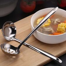 Stainless Steel Spoon Kitchen Utensils Soup Ladle Hotpot Colander Useful Tool 1X