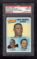 1965 TOPPS #537 ANGELS ROOKIE STARS PSA 9 MINT CENTERED!