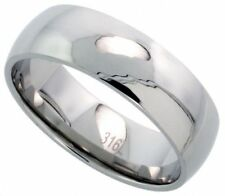 Men's Comfort Fit Stainless Steel Size 10 Wedding Band 8mm Polished Finish C30