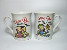 SET OF TWO DEAR GOD CUPS - FRIENDS ARE FOREVER  &   DO YOU EVER TAKE A BREAK?