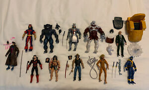 Marvel Legends X-Men Action Figure Lot (11) Caliban BAF, Professor X, Gambit