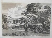Gravure XVIIème - Paysage - Jacob Van Ruysdael - Pierre Mariette