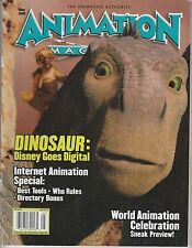 MAY 2000 ANIMATION magazine DINOSAUR - DISNEY