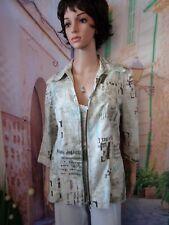 Un jour ailleurs: Superbe veste légère imprimée T.38 Neuve