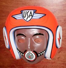 Vintage 1960's Space Pilot ASTRONAUT Halloween Costume Mask MINT store stock NOS